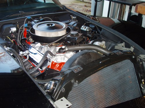 Corvette Engine Bay Restoration Reassembly 1976
